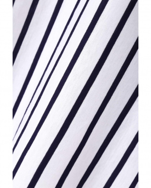 ネイビーストライプ1 [TVドラマ 有村架純着用]コクーンスリーブカットブラウス(ストライプ)◆大きいサイズ・洗える◆ 22 OCTOBRE L見る