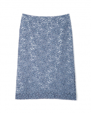 ブルー ◆大きいサイズ・洗える◆エレーヌレーススカート 22 OCTOBRE L見る