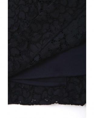 ネイビー ◆大きいサイズ・洗える◆エレーヌレーススカート 22 OCTOBRE L見る