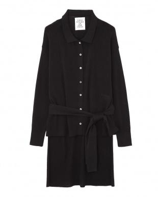 ブラック リブニットシャツ TOKYO STYLIST THE ONE EDITION見る
