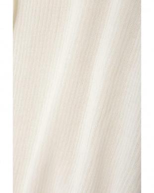ホワイト リブニットシャツ TOKYO STYLIST THE ONE EDITION見る