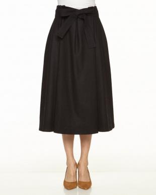 ベージュ ウエストリボンスカートを見る