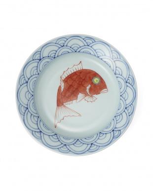 染錦めで鯛 7寸かぶと鉢見る