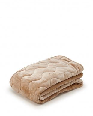 ベージュ 発熱効果で心地良い眠り あったか寝具2点セット(掛け布団カバー+パッドシーツ)を見る
