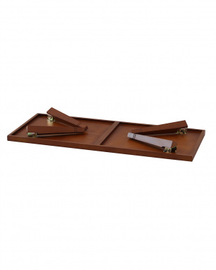 ブラウン 折りたたみテーブル(ヘリンボーン)を見る