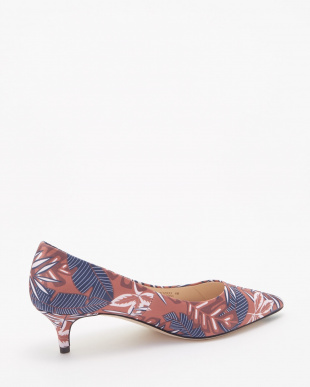 VESTA PUMP 45MM :TROPICAL PALM PRINT SATIN見る