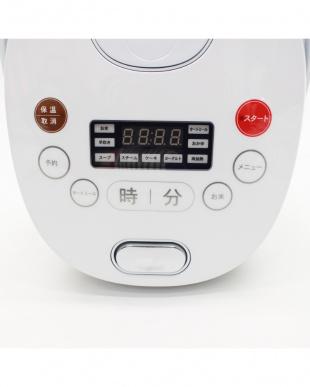 ホワイト 多機能マイコン式炊飯器 4合炊きを見る