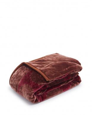 レッド ふっくらボリューム2枚合わせ毛布 サークルを見る