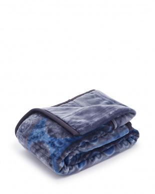 ブルー ふっくらボリューム2枚合わせ毛布 サークルを見る