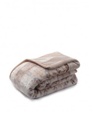 ベージュ  ふっくらボリューム2枚合わせ毛布見る