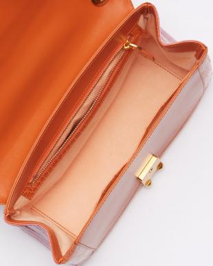 パープル/オレンジ クロコダイルショルダーバッグを見る