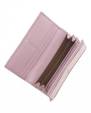 ラベンダ-  オーストリッチかぶせ式長財布見る