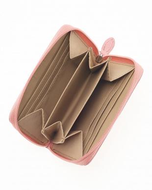 ピンク  オーストリッチコンパクト財布見る