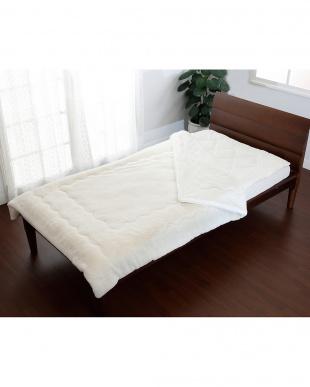 ホワイト シングル 約140×200cm 吸湿 発熱 あったか わた入り 毛布を見る