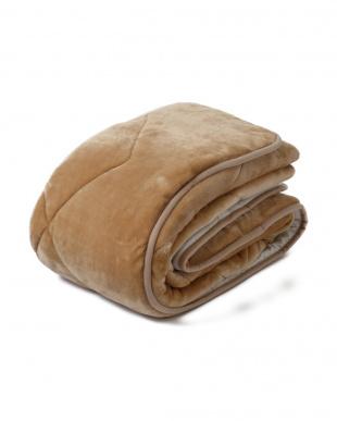 ベージュ シングル 約100×205cm 吸湿 発熱 あったか ふんわり 敷きパッド見る