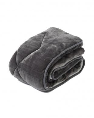 グレー シングル 約100×205cm 吸湿 発熱 あったか ふんわり 敷きパッド見る