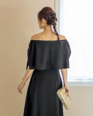 ブラック [STYLE DELI DRESS]ラップスリーブオフショルダートップスを見る