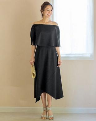 ブラック [STYLE DELI DRESS]アシンメトリーフレアスカートを見る
