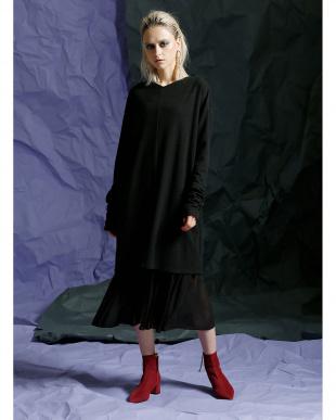 BLACK バレーミックスドレス見る