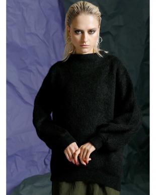 BLACK モヘアブレンドセーターチュニック見る