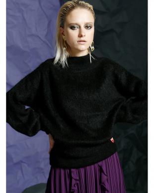 BLACK モヘアブレンドセータートップスを見る