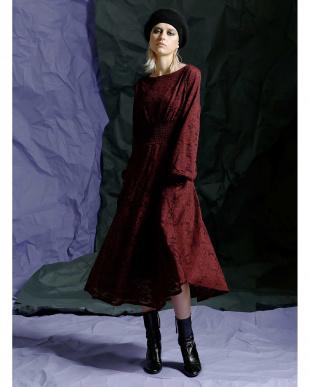 レッド シアーニュアンスドレスを見る