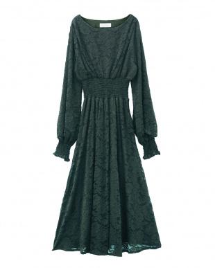 グリーン シアーニュアンスドレスを見る