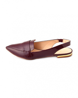 ブラウン TABITA PATENT SHOES見る