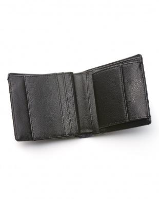 アイリッシュブル-  ダイヤモンドパイソン小銭入れ付き二つ折り財布見る