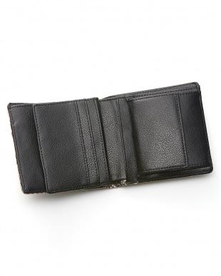 ナチュラル  ダイヤモンドパイソン小銭入れ付き二つ折り財布見る