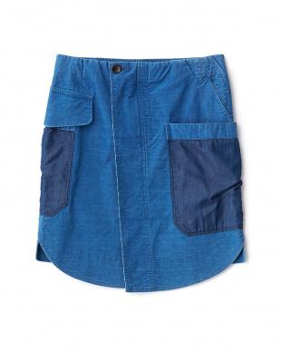 ライトブルー Mixインディゴタイトスカートを見る