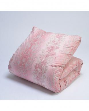 ピンク フランス産ホワイトダックダウン90% 羽毛掛ふとん シングルロングを見る