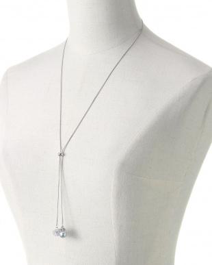 シルバー/グレー/クリスタル グレー貝パールスライドスネークチェーン Yスタイルネックレスを見る