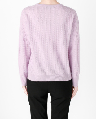 ラベンダー カシミヤセーターを見る