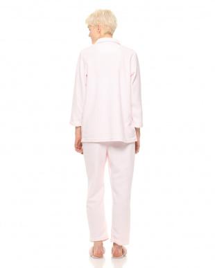 ピンク 表パイル裏起毛のあったかレディースパジャマを見る