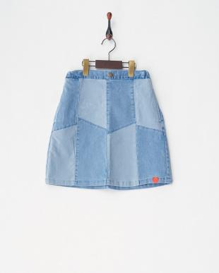 サックス2 menuet ストレッチデニムスカート|GIRLを見る