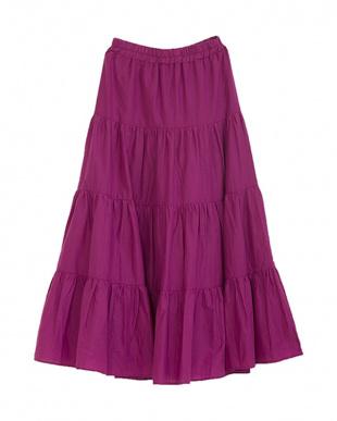 ピンク コットンティアードスカートを見る