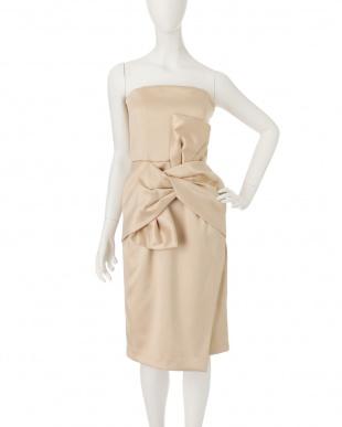 サーモンピンク Ladyベアツイストラップドレス LAGUNAMOON見る