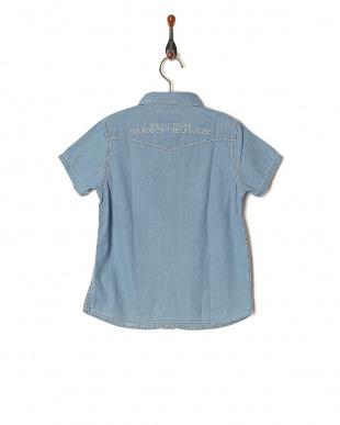 ブルー コーマデニム S/S シャツを見る