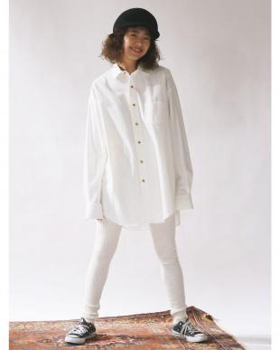 ブラウン コットンツイルビッグシャツ Ungrid見る