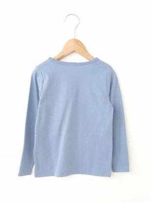 ライトブルー [100-130]ロゴプリントTシャツ[WEB限定サイズ] a.v.v bout de chou見る