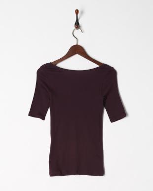 ダークパープル 綿100% 厚地スムース 5分袖シャツを見る
