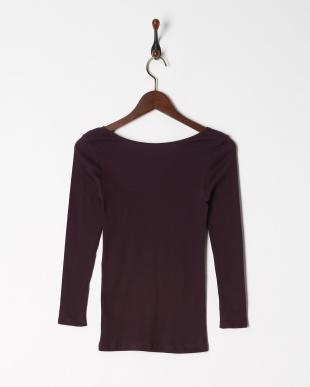 ダークパープル 綿100% 厚地スムース 8分袖シャツを見る