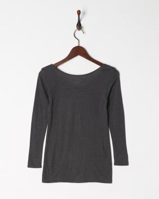 チャコールグレー 暖かくてムレにくい 保温性×通気性 8分袖シャツを見る