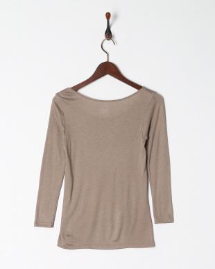 グレージュ 暖かくてムレにくい 保温性×通気性 8分袖シャツを見る