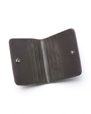 ワイン クロコダイル&牛革クロコ型押しコンパクト財布を見る