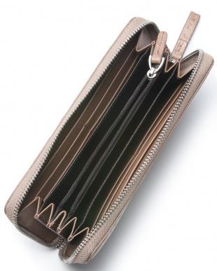ライトミンク クロコダイルラウンドファスナー長財布を見る