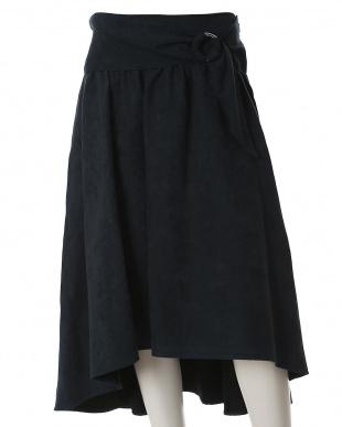 キャメル1 《大きいサイズ》サークルバックルフレアスカート ef-de L Size見る