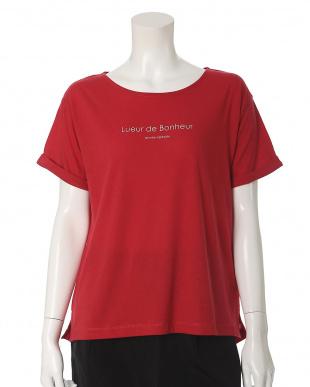ホワイト 《大きいサイズ》マシュふわ(R)フロントロゴTシャツ ef-de L Size見る