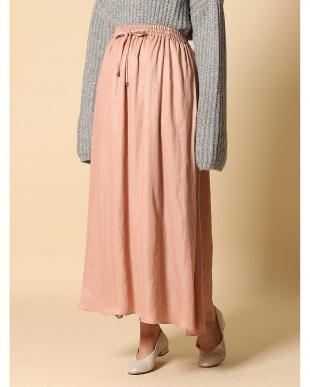 ピンク1 サテンフレアスカート CLEAR IMPRESSION見る